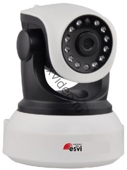 Миниатюрная, поворотная WiFi камера HD-720p